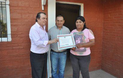 Inauguración de viviendas en la ciudad de Tintina, Dpto Moreno