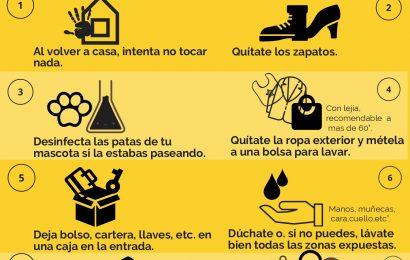 Recomendaciones para la limpieza del hogar y el cuidado personal